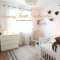 chambre bébé foret enchantée