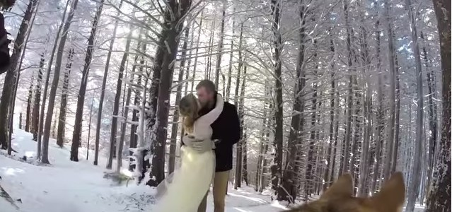 {Vidéo} C'est leur chien qui filme leur mariage…