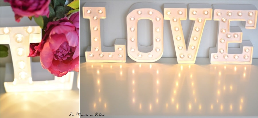 lettres lumineuses