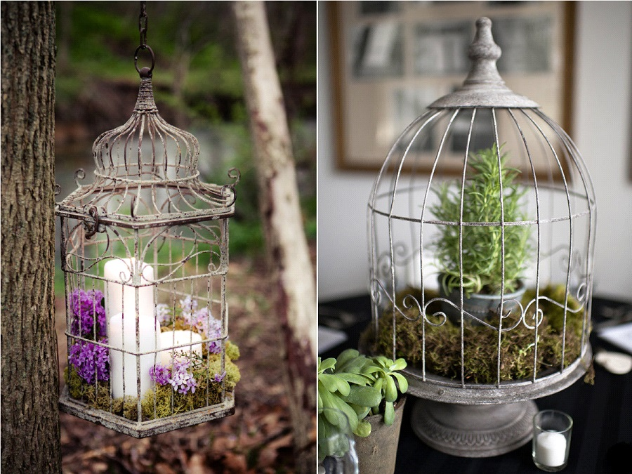d co de mariage les cages oiseaux la mari e en col re blog mariage grossesse voyage de noces. Black Bedroom Furniture Sets. Home Design Ideas