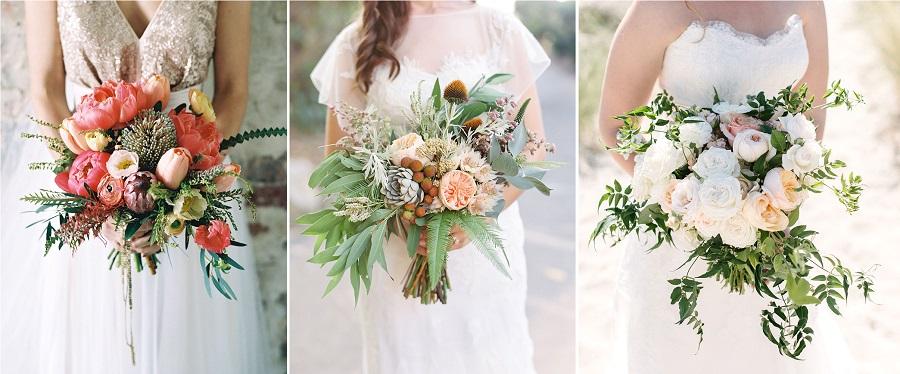 formes bouquet mariée cascade
