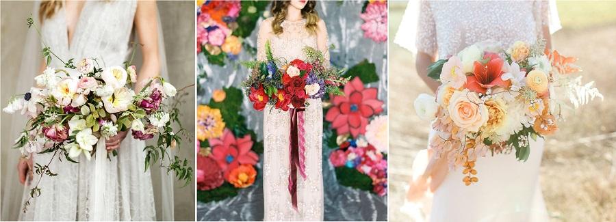 formes bouquet mariée évasé