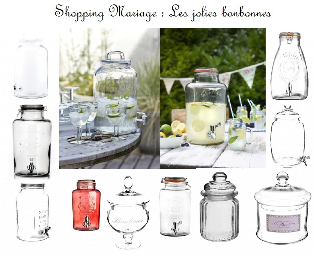 shopping bonbonnes mariage