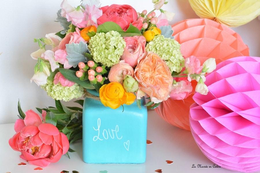 Diy un vase cadeau pour la f te des m res la mari e en col re blog mariage grossesse - Cadeau fete des meres bebe ...