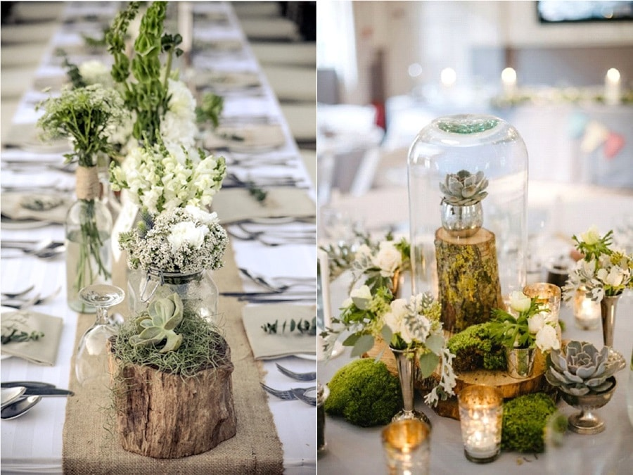 Comment cr er une table de mariage ambiance nature la mari e en col re bl - Decoration de table nature ...