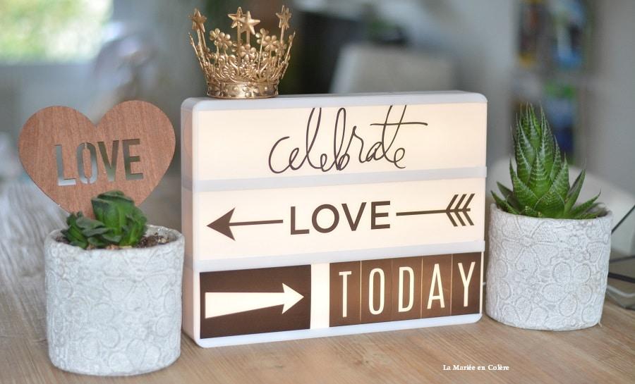 Connu Shopping} Une lightbox pour mon mariage - La Mariée en Colère Blog  MC67