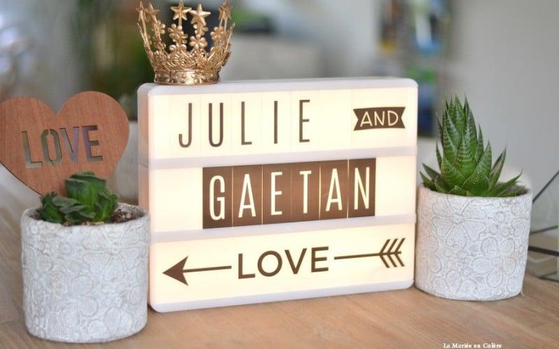 {Shopping} Une lightbox pour mon mariage