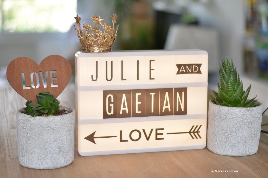 Exceptionnel Shopping} Une lightbox pour mon mariage - La Mariée en Colère Blog  UX29