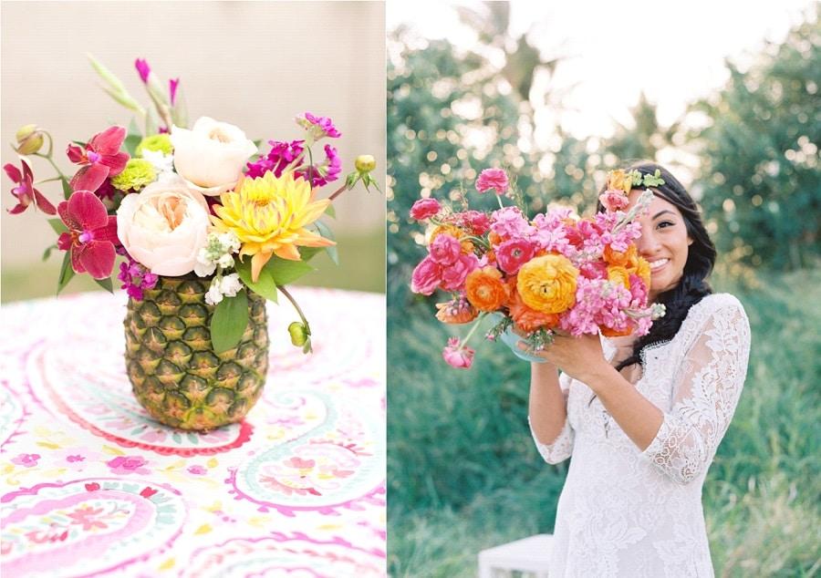 Inspiration une d coration de mariage tropical for Robes pour mariage tropical
