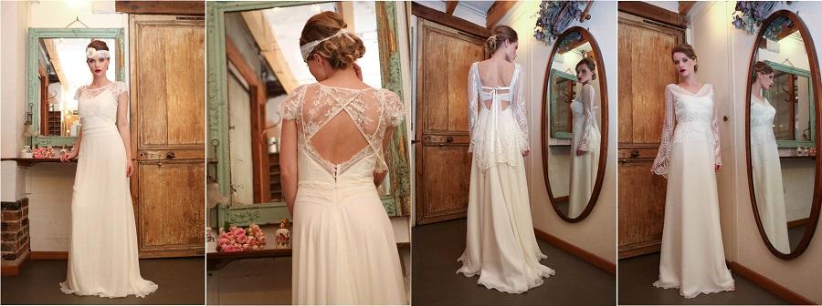 robe de mariée elsa gary rétro