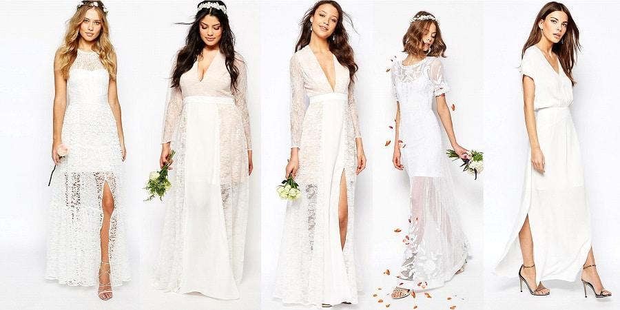 Shopping 15 robes longues pour le lendemain du mariage for Robes pour le 50e anniversaire de mariage