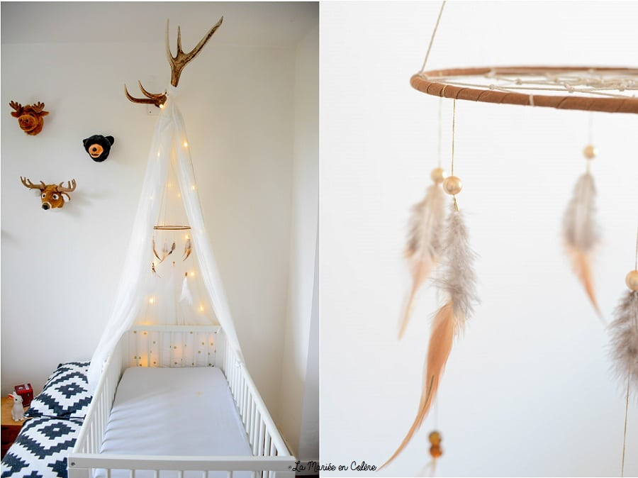 DIY attrape rêves mobile bébé