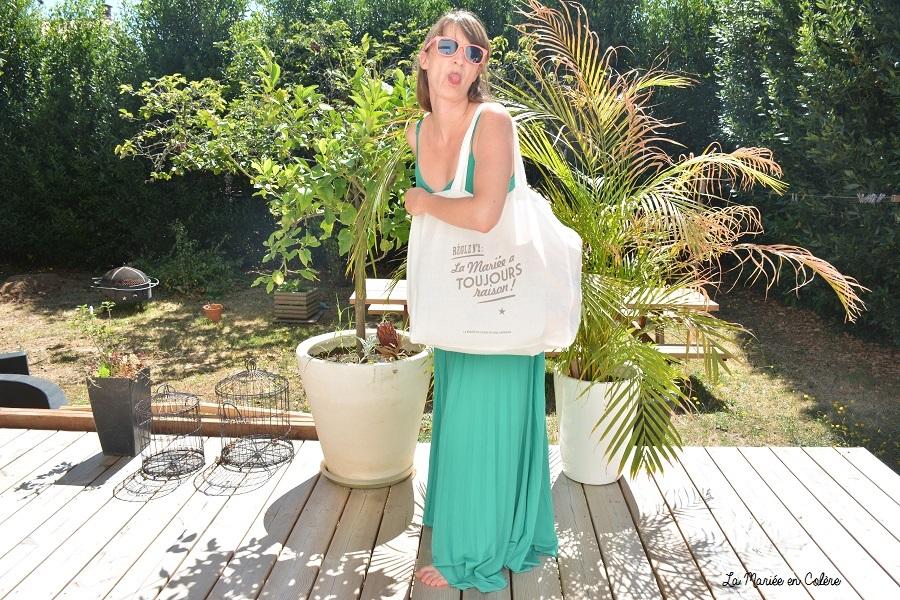 sac de plage mariée