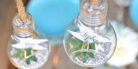 DIY : Marque-places, en mode tête d'ampoules
