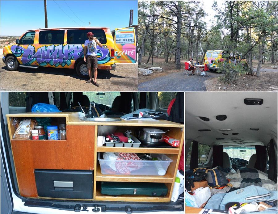 road trip ouest américain van