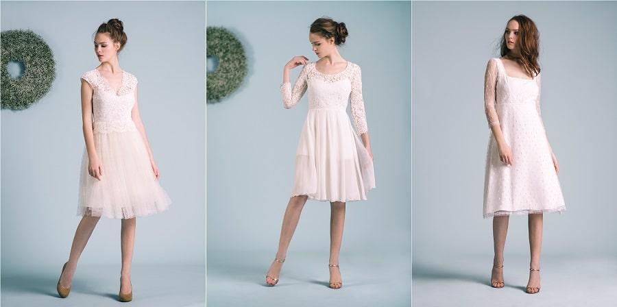 robes de mariée courte atlier anonyme