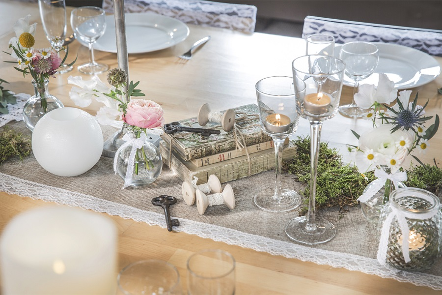 decoration table mariage boheme chic