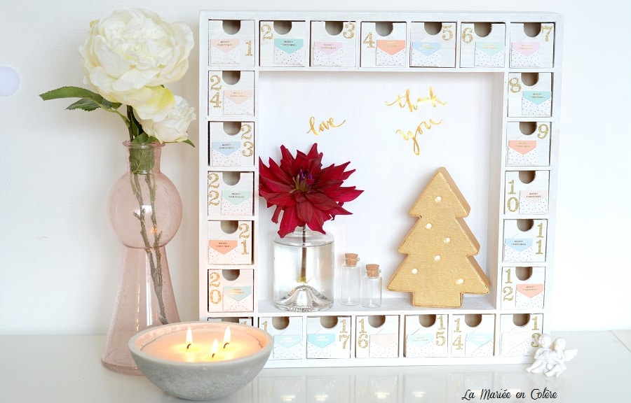diy mon calendrier de l 39 avent la mari e en col re blog. Black Bedroom Furniture Sets. Home Design Ideas