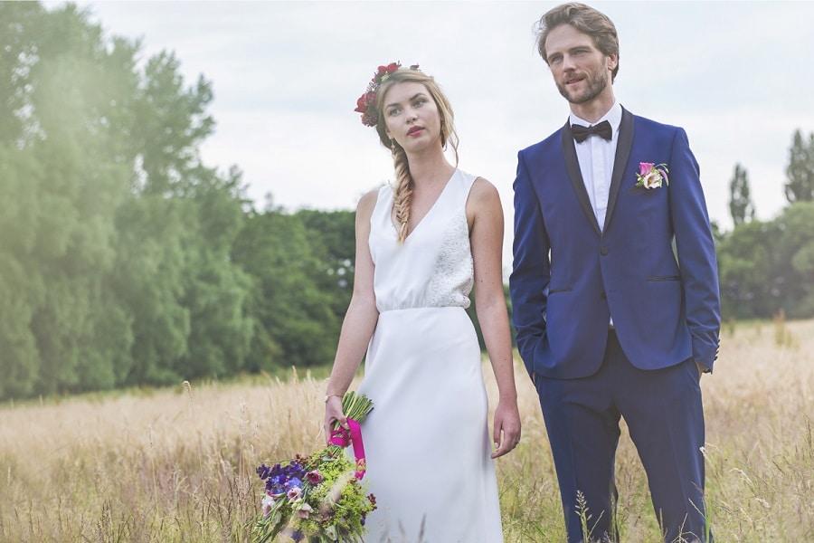 Inspiration mariage boh me chic la mari e en col re blog mariage grosses - Mariage campagnard chic ...