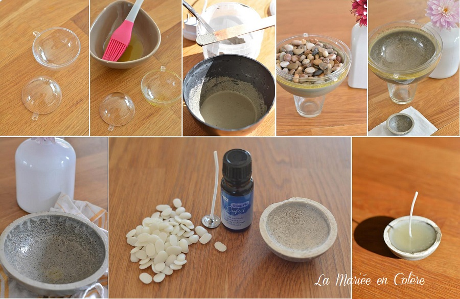 DIY tutoriel Photophore béton créatif
