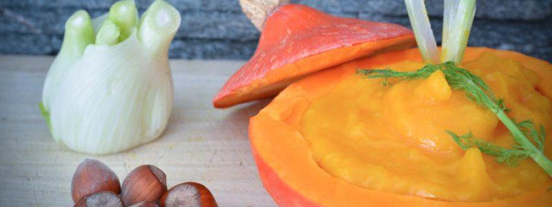 Recette pour bébé : purée potimarron & fenouil