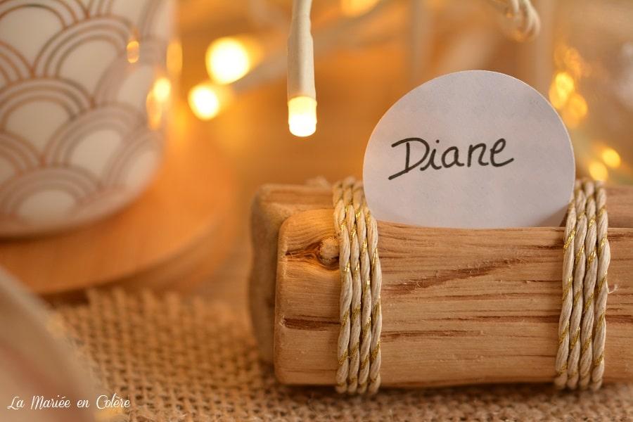 DIY marque place mariage