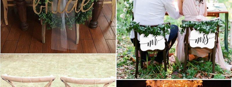 11 idées pour décorer vos chaises de mariage