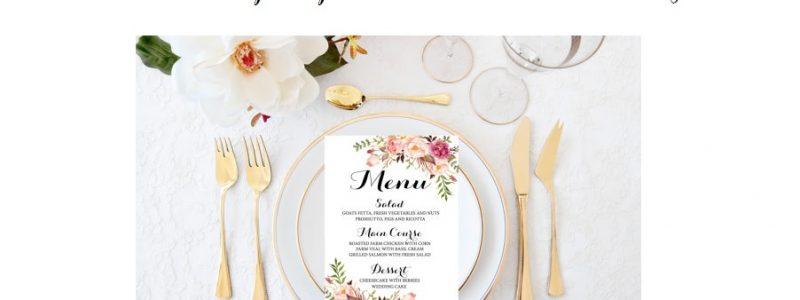 + de 30 idées pour présenter votre menu de mariage