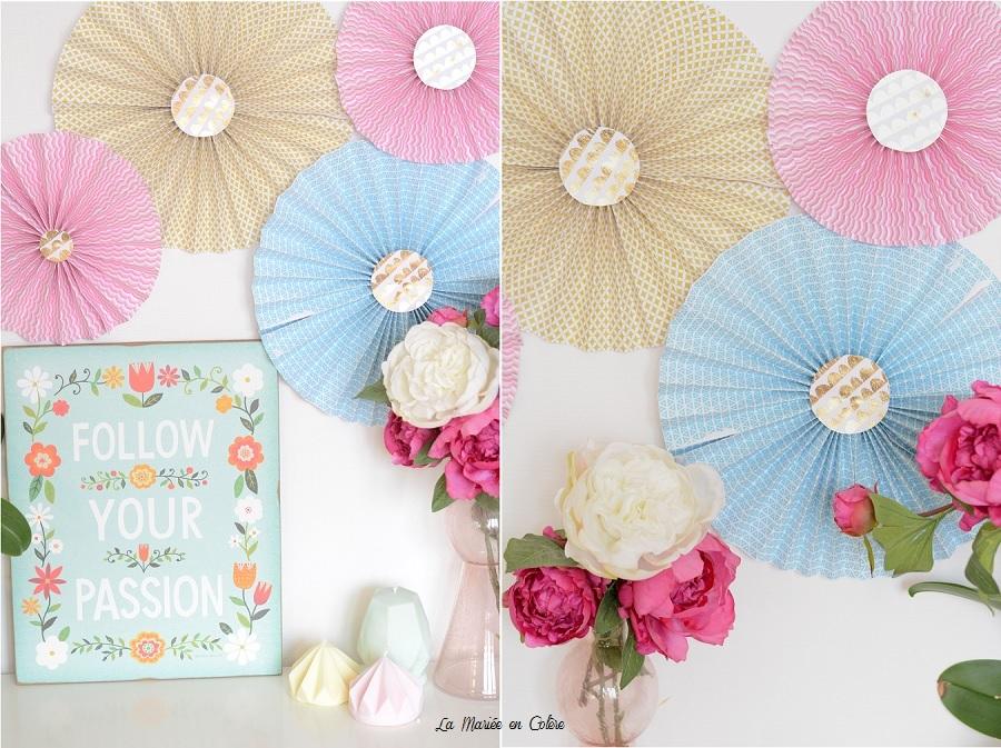DIY rosaces en papier