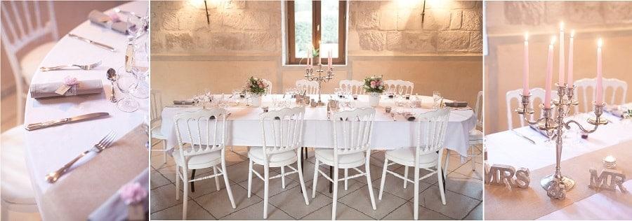 décoration table mariage vintage chic