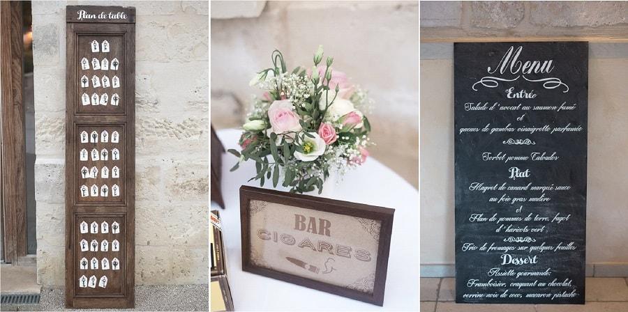 décoration salle mariage vintage chic
