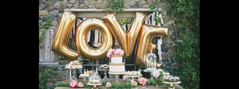 25 idées de décoration de mariage avec des ballons