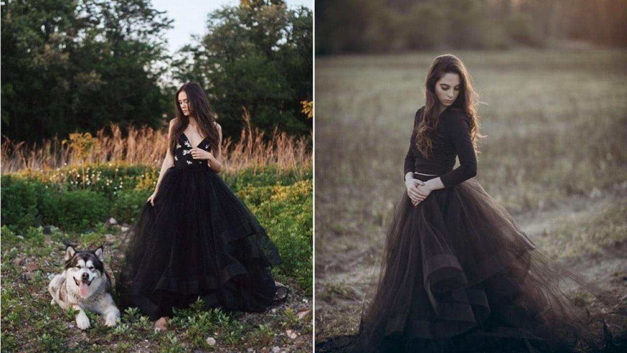 Une robe de mariée noire, et pourquoi pas