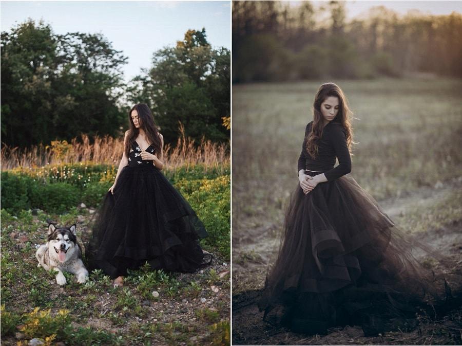 une robe de mari e noire et pourquoi pas pour votre mariage original. Black Bedroom Furniture Sets. Home Design Ideas