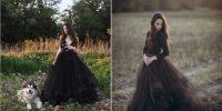 Une robe de mariée noire, et pourquoi pas ?