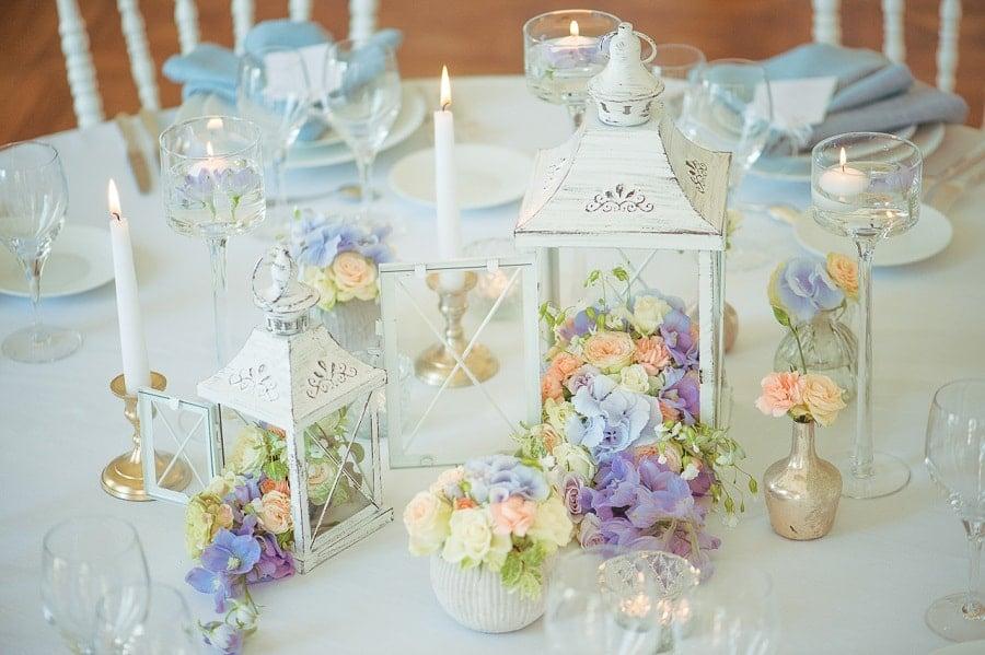 centre de table mariage classe