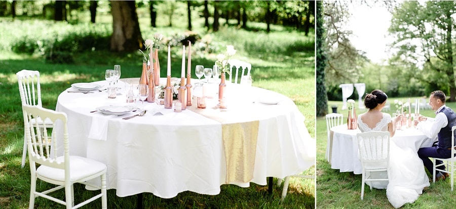 decoration mariage cuivre