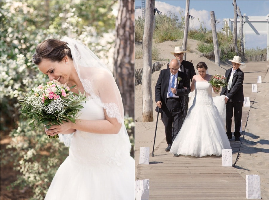 mariée à la plage