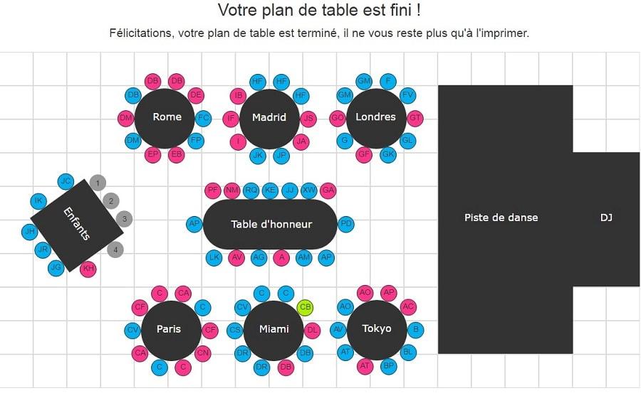 mes l 39 outil indispensable pour cr er son plan de table. Black Bedroom Furniture Sets. Home Design Ideas