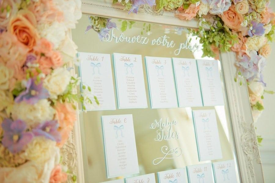 plan de table mariage élégant