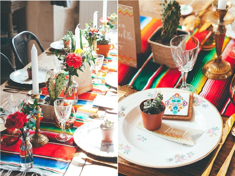 Inspiration mariage color ambiance mexicaine - Decoration mexicaine a imprimer ...