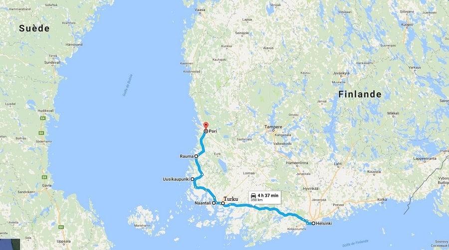 itinéraire voyage famille finlande