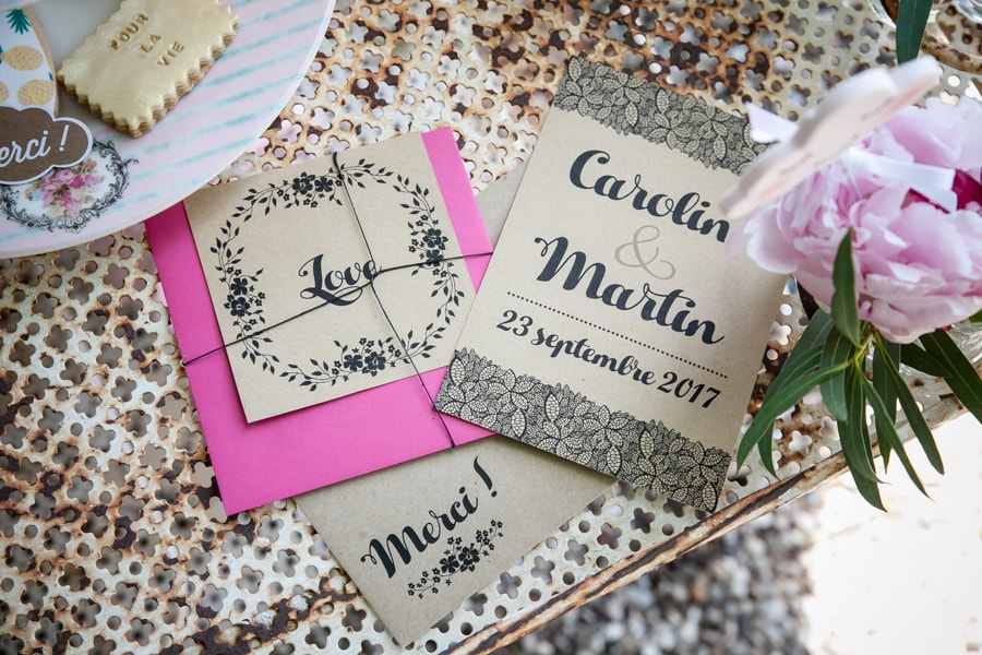 invitation shooting d'inspiration mariage
