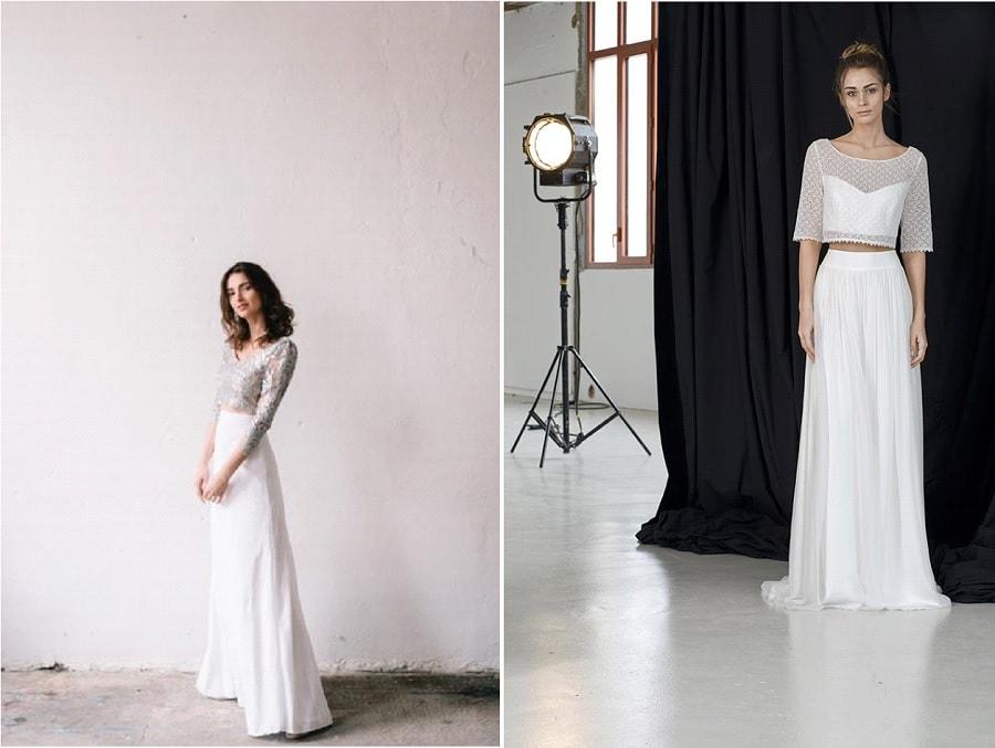 robes de mariée créateur top crop