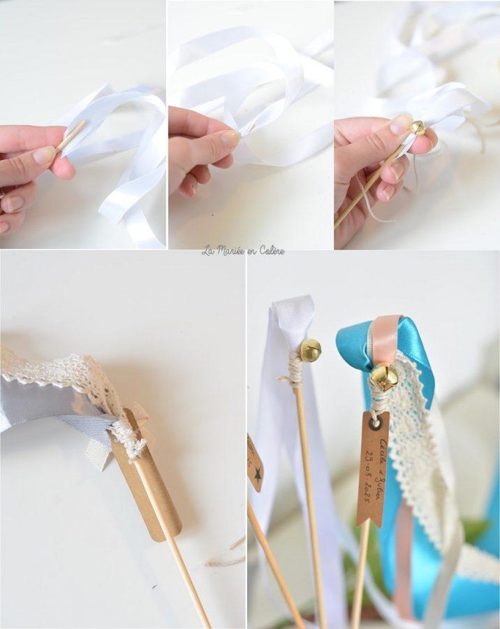 DIY batons rubans sortie ceremonie mariage