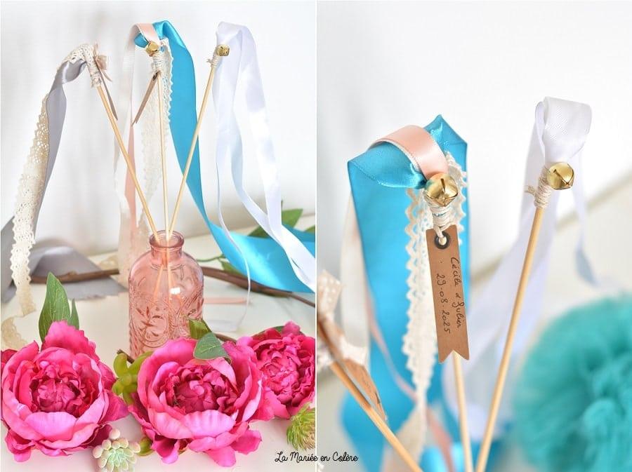 DIY mariage batons rubans