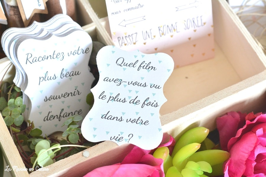 animation mariage a table