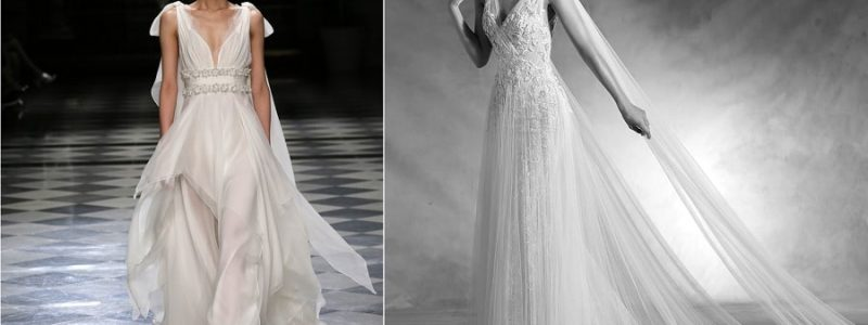 Collections 2018 : 10 robes de mariée style Vestale