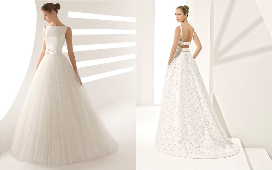 robes de mariée 2018 noeud