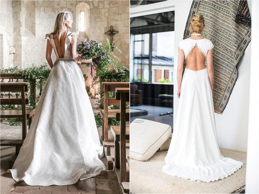 robes de mariée dos nus-